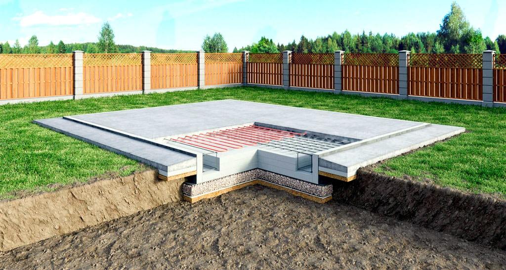 Фундамент для будущего дома