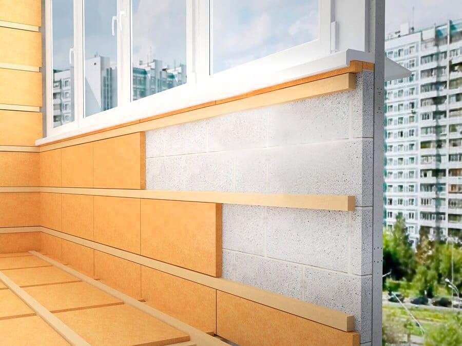 Утепление стен на балконе