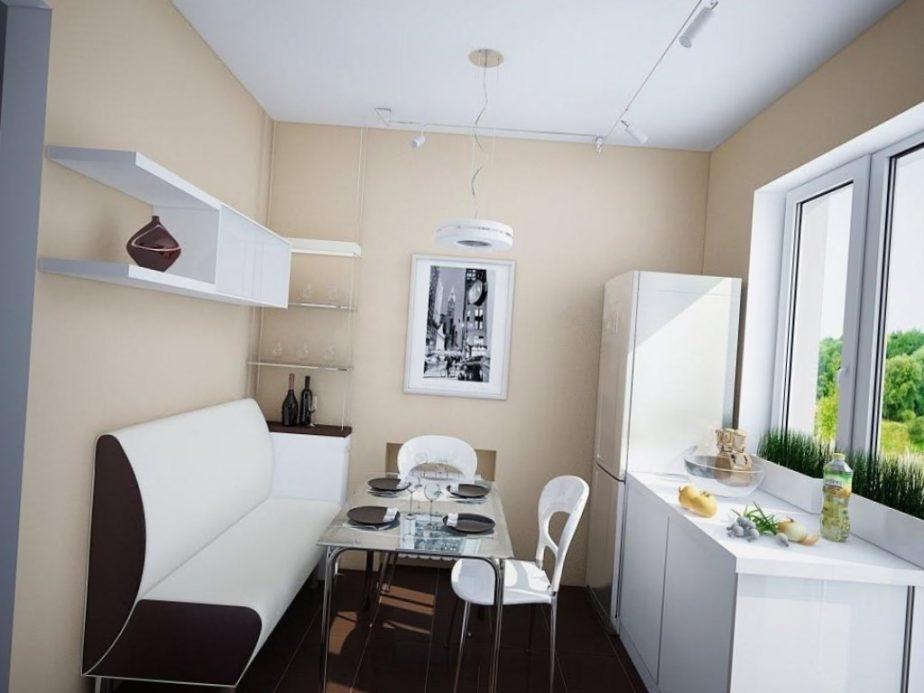 Расположение мебели в маленьких кухнях