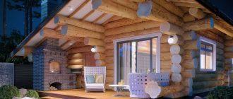 Где строятся красивые дома из оцилиндрованного бревна