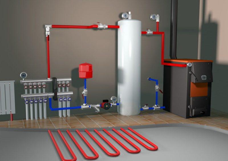 Как производится отопление коттеджа?