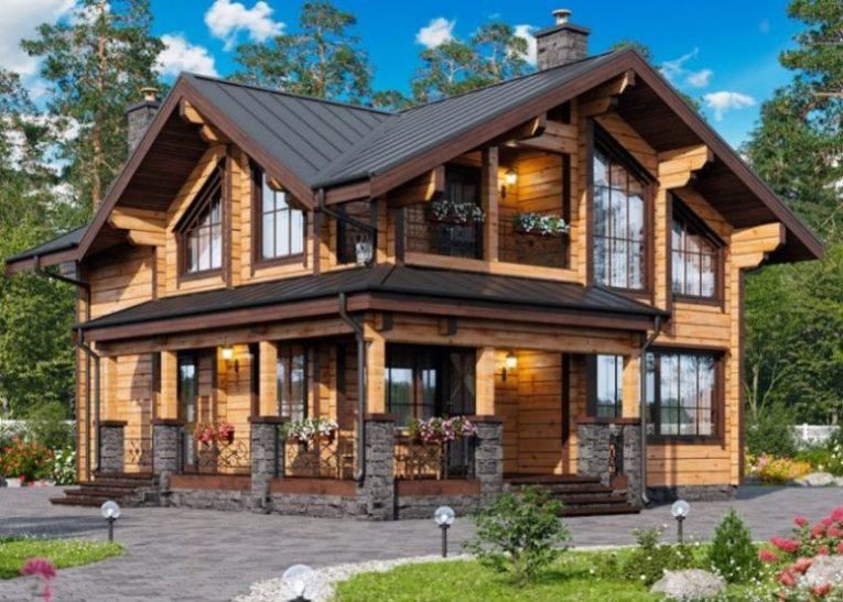 Дома из брусовых материалов