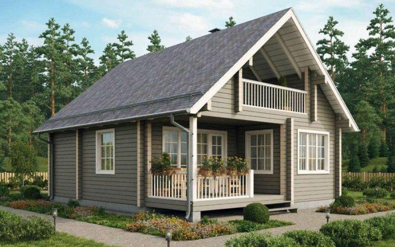 Деревянные дома с мансардой
