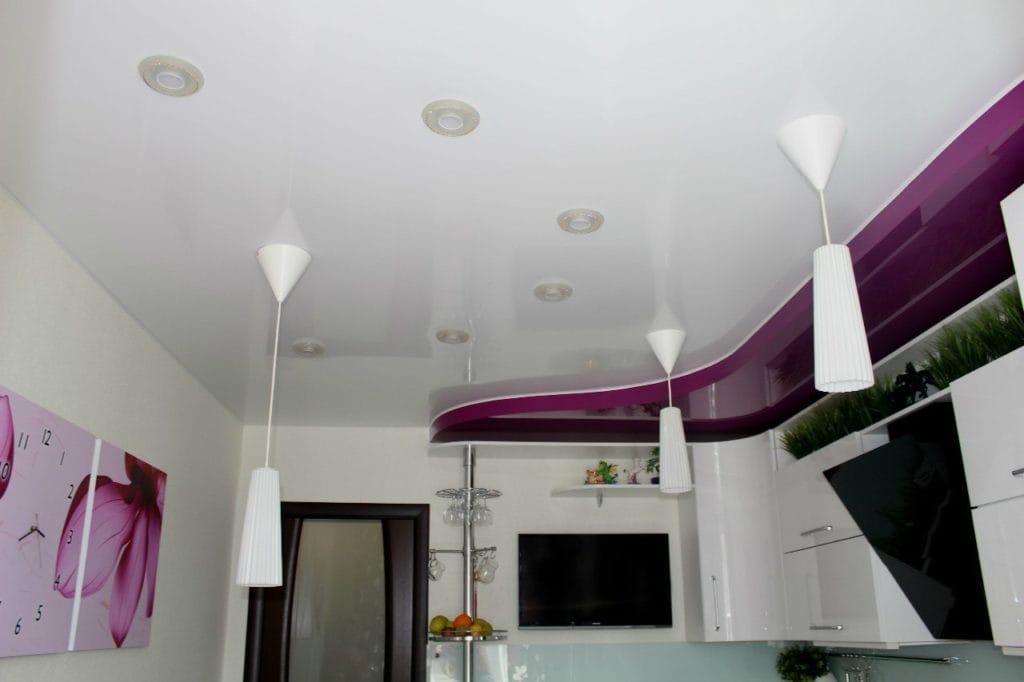 Натяжные потолки для кухни: только плюсы