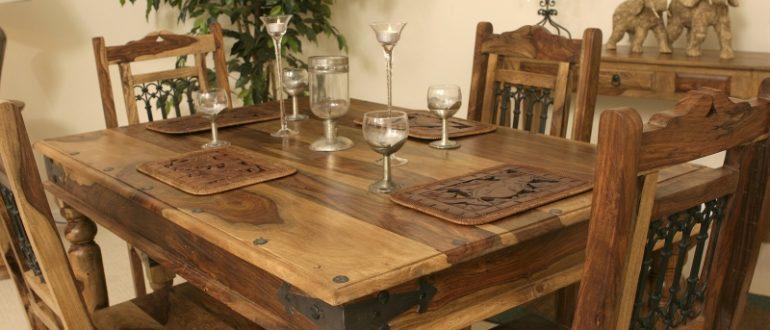 Обеденный стол из массива – красивый и надежный