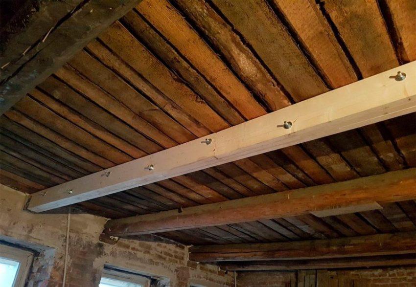 Легковоспламеняющиеся конструкции деревянных перекрытий