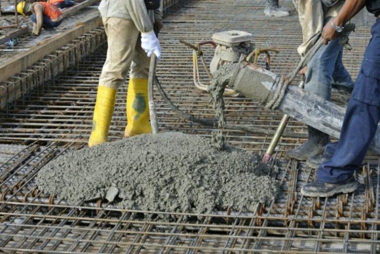 Применение бетонной смеси