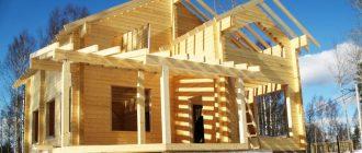 Порядок строительства загородного дома из бруса