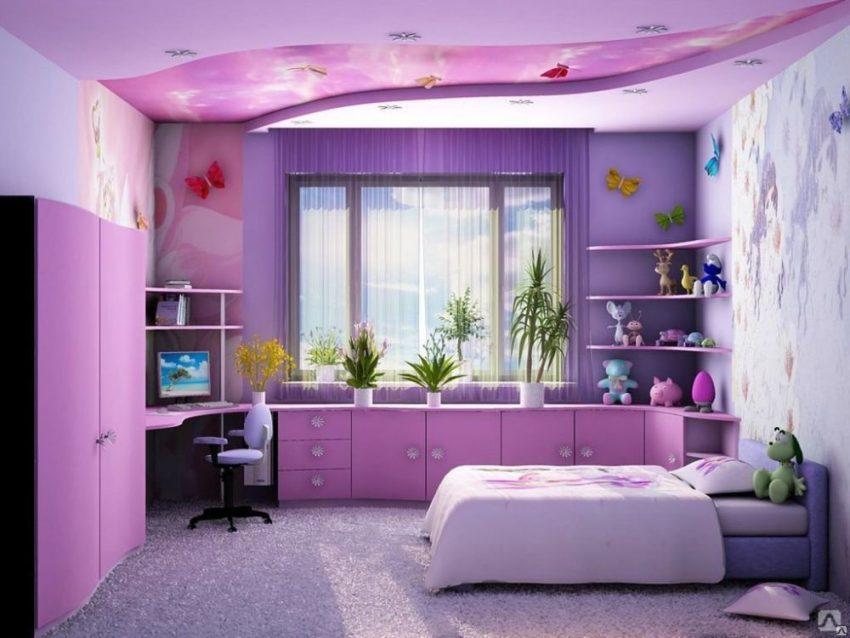 Как обставить спальню для девочки