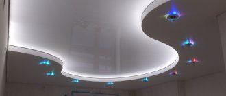 Натяжные потолки в два уровня и их особенности