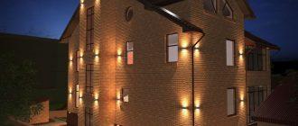 Применение архитектурной подсветки фасадов