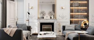 Изысканный интерьер с мебелью на заказ