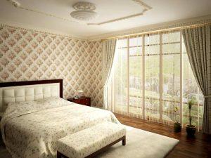 Кровать в спальне2