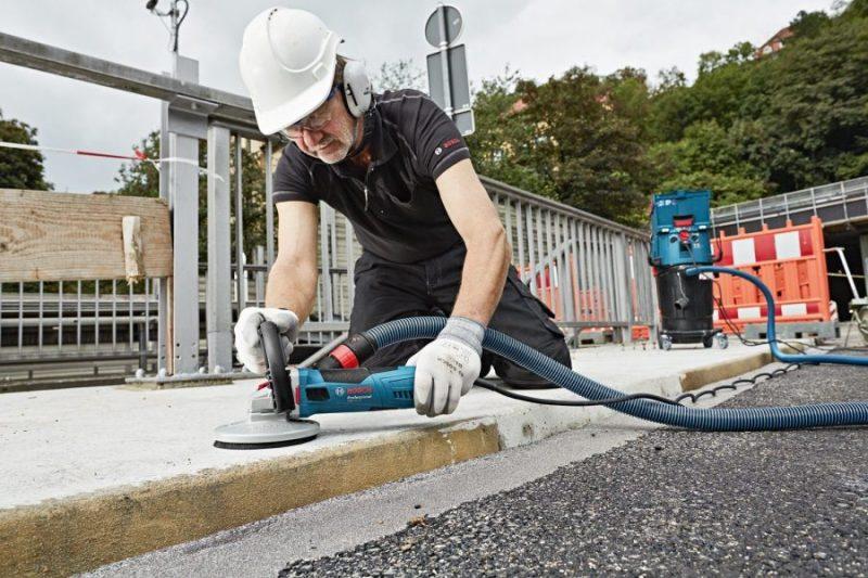 Применение шлифовальной машины по бетону