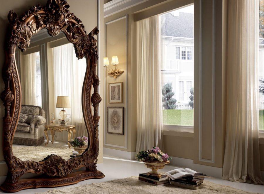 Старинные зеркала в современном интерьере