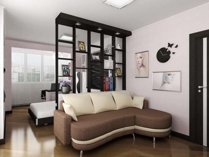 Зонирование гостиной с помощью мебели